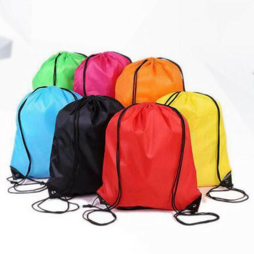 String Drawstring Backpack Cinch Gym Sport Bag