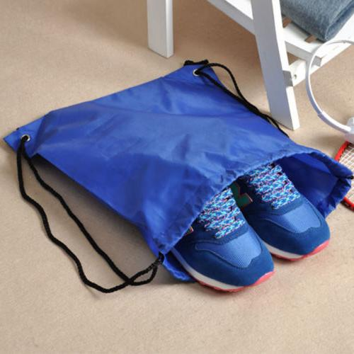 String Drawstring Cinch Sack Gym Bag Sport Shoe