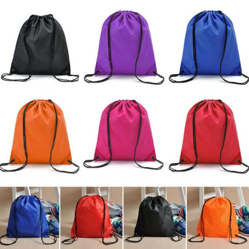 String Back Pack Cinch Bag School Sport Shoe US