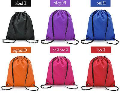 String Drawstring Pack Cinch Bag PE Shoe Bags