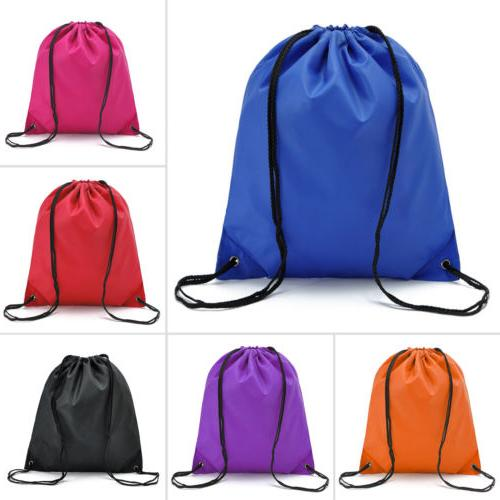 string drawstring back pack cinch sack gym