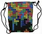 BAM Products Tetris Video Game Backpack Gym Sports Drawstrin