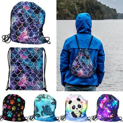 travel string drawstring backpack sack shoulder bag