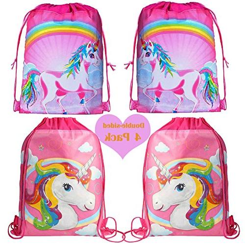 unicorn drawstring shoulder backpack bags