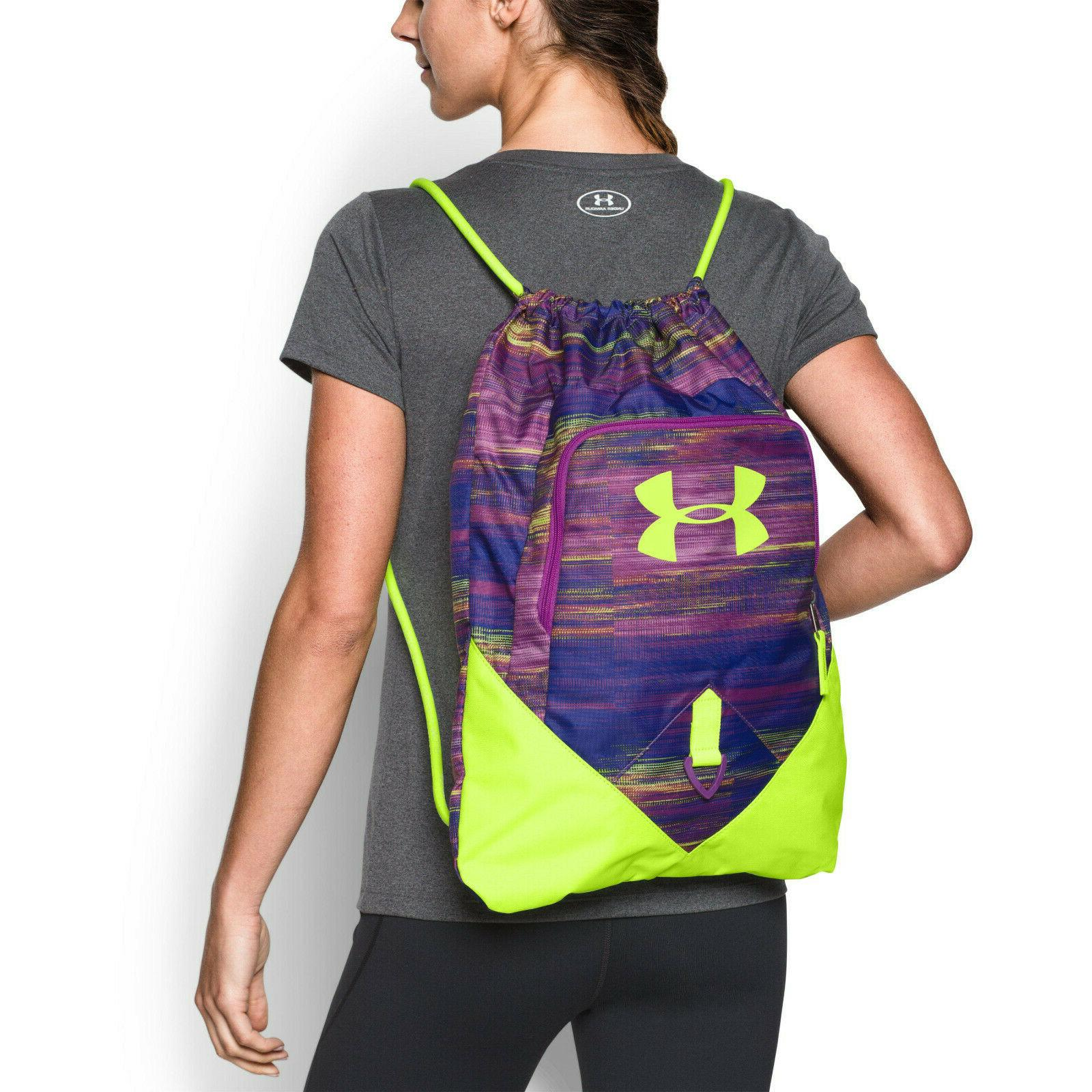 unisex undeniable sackpack drawstring bag purple neon