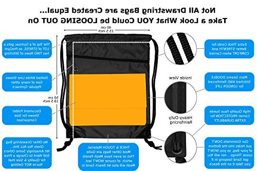 Zavalti Very Strong Premium Quality Drawstring Backpack Gym Bag Adults Children. NO Kids Perfect for Sports, Beach Holidays,