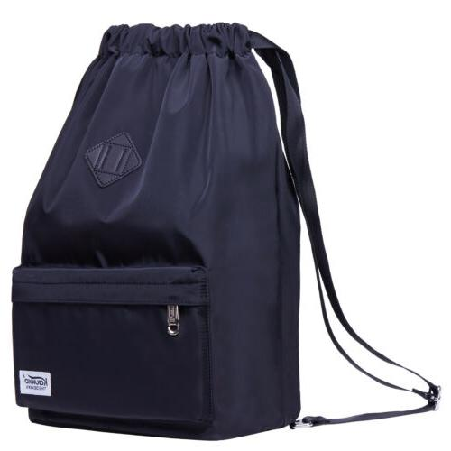KAUKKO Water-proof Nylon Drawstring Backpack Gym