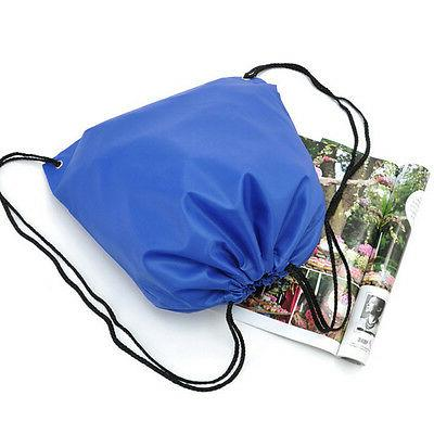 String Drawstring Pack Cinch Sack Bag Sport Shoe Bags US