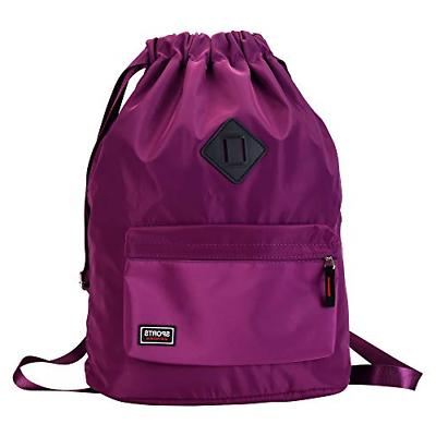 waterproof drawstring sport bag backpack string sackpack