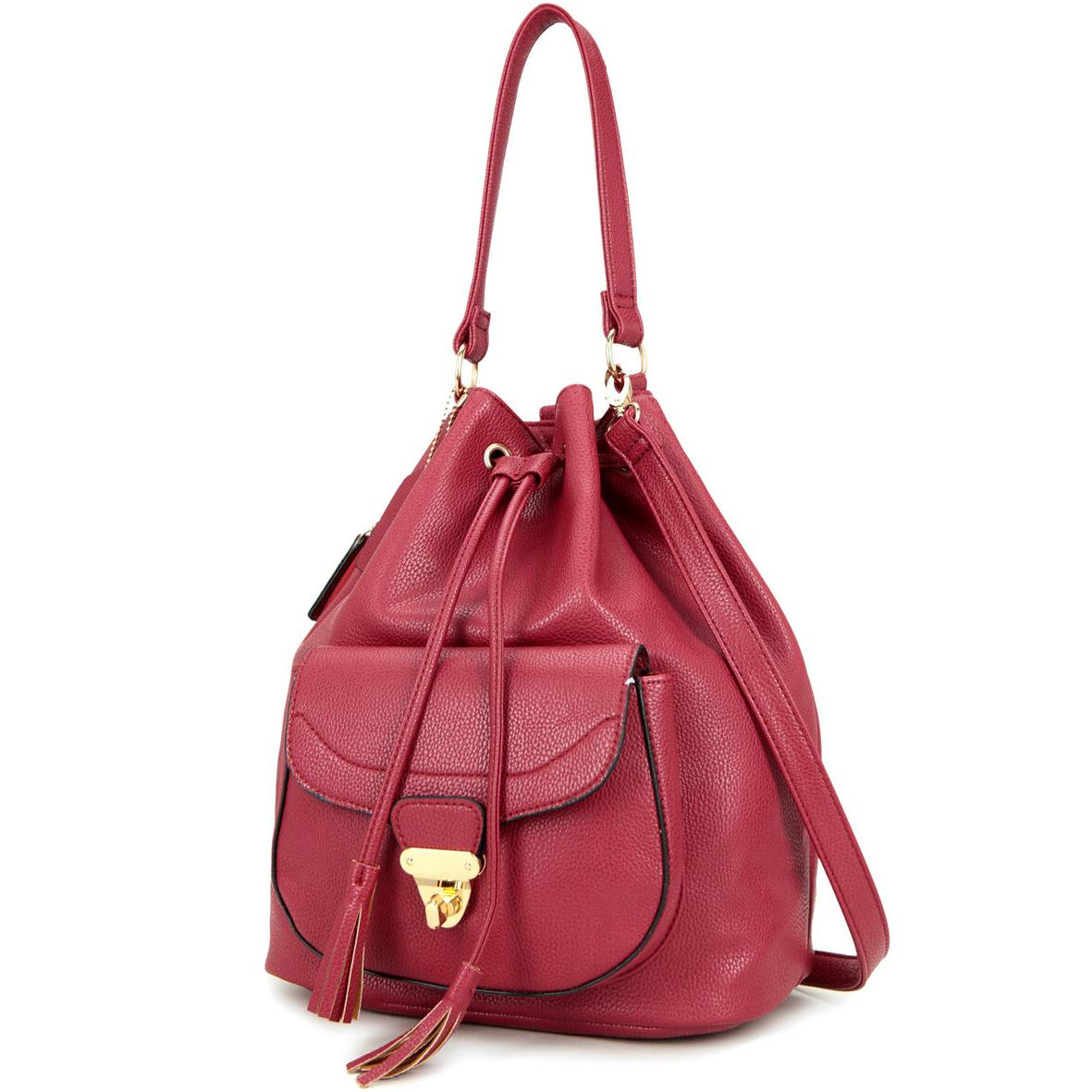 Women Handbag Faux Leather Backpack Collection Drawstring