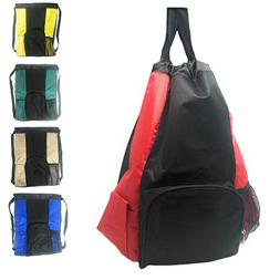 Large Big Drawstring Backpack Sack Rucksack Pack Bag Heavy D