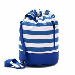 Large Canvas Beach Bag - Single Strap Bag With Waterproof Bo