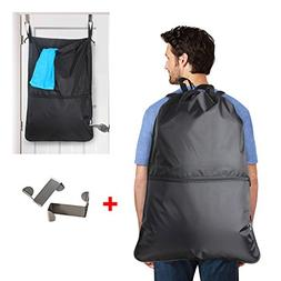 LUXJA Laundry Backpack, Laundry Bag with EXTRA Stainless Ste