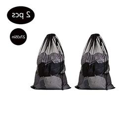 2 Pcs Large Laundry Bag with Drawstring Mesh Laundry Bag for