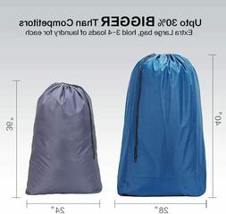 HOMEST 2 Pack Extra Large Travel Nylon Laundry Bag  Machine