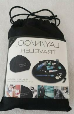 "Lay N Go Cosmo Plus 20"" Cosmetic Bag Drawstring Travel Pouch"
