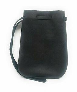 Leather Drawstring Pouch, Coin Bag, Medicine Tobacco Pouch M