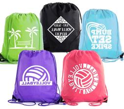 Mato & Hash Adult and Child Volleyball Drawstring Backpacks