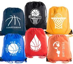 Mato & Hash Basketball Drawstring Bags with 3,6, and 10 pack