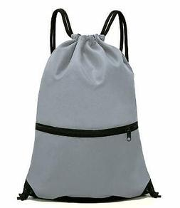 HOLYLUCK Men & Women Sport Gym Sack Drawstring Backpack Bag-
