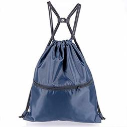 HOLYLUCK Men Women Outdoor Sport Gym Sack Waterproof Drawstr