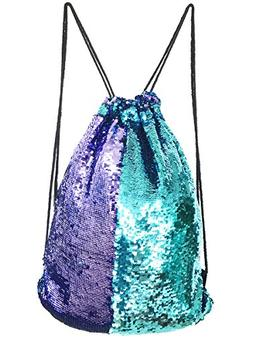 Mysticbags Mermaid Bag Sequin Drawstring Backpack Outdoor Sh