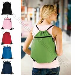 Mesh Drawstring Backpack String Cinch Sac Tote Bag Sport Pac