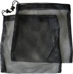 Mesh Drawstring Bag 10x10 inches Black