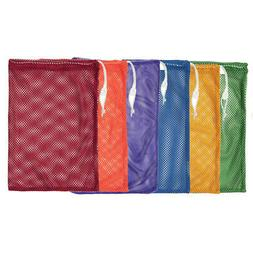 "Mesh Equipment Bag, 12"" x 18"", Assorted Colors, Pack of 6"