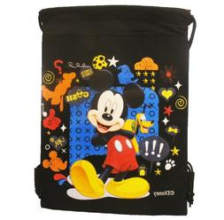 Disney Mickey Black Drawstring Bag