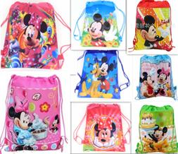 Mickey Mouse Minnie Drawstring Backpack Girl's School Sling