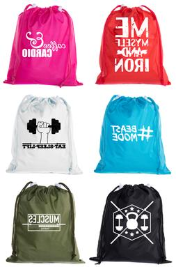 Mini Drawstring Gym Bags, Inspirational Gym bags with workou