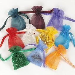 Fun Express Mini Organza Drawstring Bags