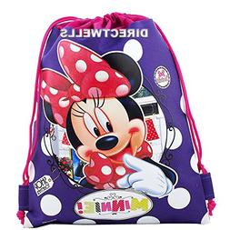 Disney Minnie Mouse Authentic Licensed Drawstring Bag Backpa