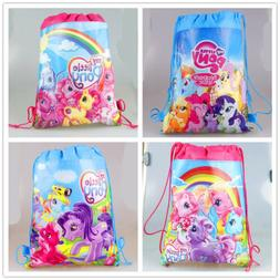 My Little Pony Girls Drawstring Bag Goody Backpack Kids Beac