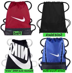 NEW Nike Brasilia Gym Sack Bag Drawstring Backpack: RED, BLA