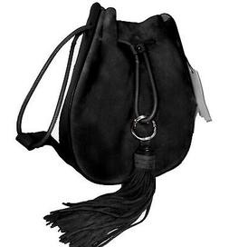 NEW Rebecca Minkoff LuLu Black Drawstring Crossbody Bag NWT