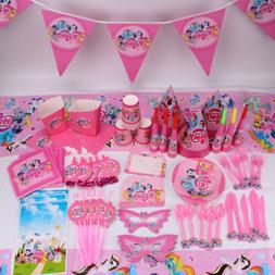 New My Little Pony Girls Theme Tableware Favor Kids Birthday