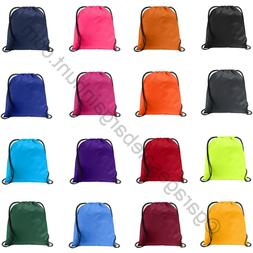 NEW String Drawstring Back Pack Cinch Sack Gym Tote Bag Scho