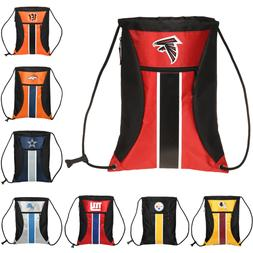 NFL Football Big Stripe Zipper Drawstring Backpack - Pick Te