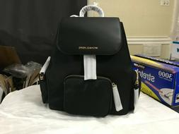 NWT Michael Kors Abbey Large Cargo Canvas PVC Backpack MK Tr