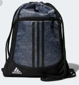 NWT adidas Alliance 2 Sackpack Pull Drawstring Backpack Gray
