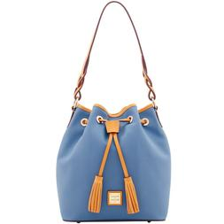 NWT Dooney & Bourke Eva Braid Tasha Drawstring Shoulder Bag,