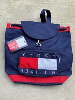 NWT Tommy Hilfiger Vintage Drawstring Bag Backpack Big Flag