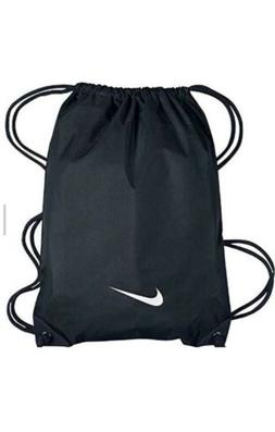 CUSTOM NIKE BLACK NYLON GYM BAG NAP SACK DRAWSTRING