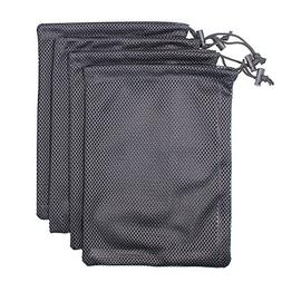 MoMaek Set of 4 Nylon Mesh Storage Ditty Bag Stuff Sack for