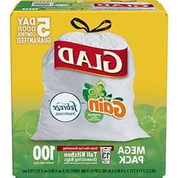 Glad OdorShield Tall Kitchen Drawstring Trash Bags - Gain Or