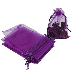 "HRX Package 100pcs Organza Bags, 4""x 6"" Wedding Favors Gift"