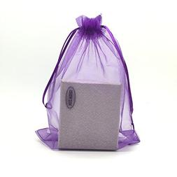 "SUNGULF 100pcs Organza Pouch Bag Drawstring 6""x9"" 16x22cm St"