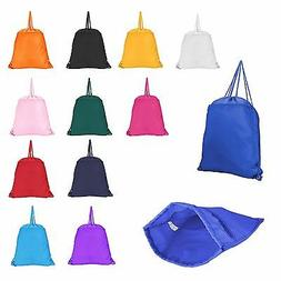 Original Drawstring Backpack Tote Sock Sack Pack Bag Dual Dr